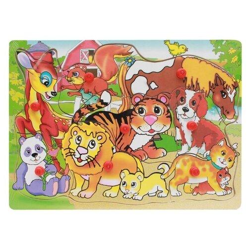 Рамка-вкладыш Рыжий кот Зоопарк (П-9752), 9 дет.