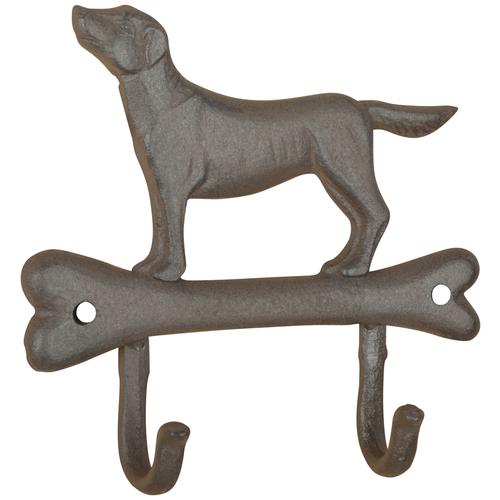 esschert design hand fork Крючок двойной Собака на косточке Esschert Design, 4.8 x 19.3 x 18.3 см