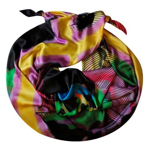 Двойной шарф-долька Оланж Ассорти с узелками серия Апрель dolka-шелк-z-162-2