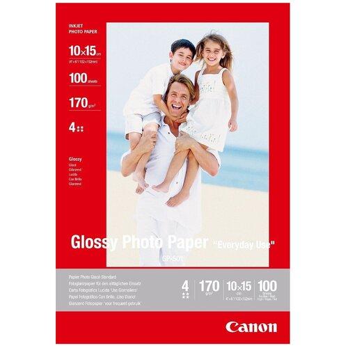 Фото - Бумага Canon 10x15 Everyday Use GP-501 170 г/м2 100 лист., белый бумага canon zink zp 2030 3214c002 20 лист белый