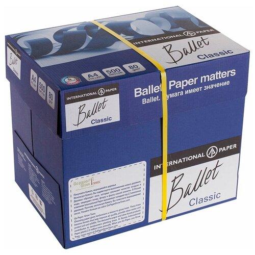Фото - Бумага Ballet A4 Classic 80 г/м² 500 лист., 5 пачк., белый бумага creative a4 студенческая 80 г м² 100 лист белый
