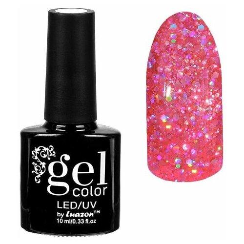 Фото - Гель-лак для ногтей Luazon Gel color Искрящийся бриллиант, 10 мл, 008 розовый гель лак для ногтей luazon gel color termo 10 мл а2 076 пурпурный перламутровый