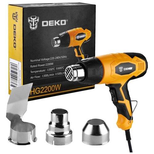 Фен строительный DEKO HG2200W, 063-4200