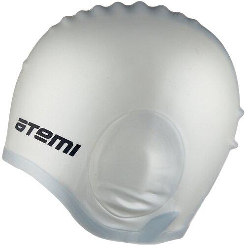 Фото - Шапочка для плавания ATEMI EC103, серебро аксессуары для плавания atemi шапочка для плавания графика psc422