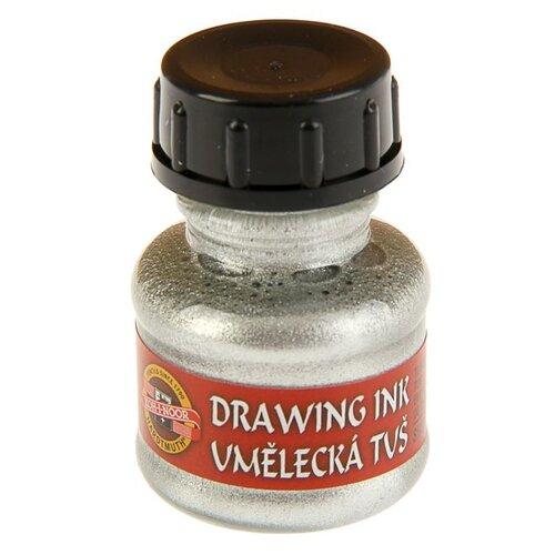 Купить Тушь для письма и рисования художестввенная 20мл K-I-N серебряный 141762 1732706, KOH-I-NOOR, Краски