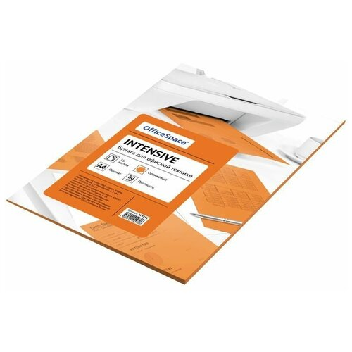 Фото - Бумага OfficeSpace A4 Neon 80 г/м² 50 лист. (цветная), оранжевый бумага officespace а4 neon 80 г м² 100 лист