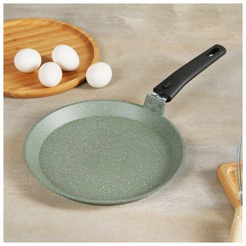Сковорода блинная 24 см фисташковый мрамор 4942169 сковорода d 24 см kukmara кофейный мрамор смки240а