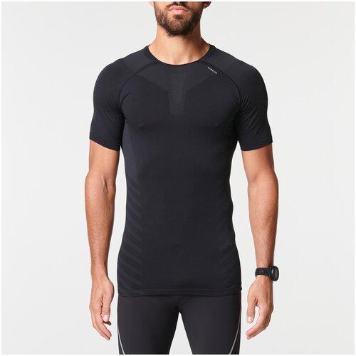 футболка мужская anta цвет черный 85839144 3 размер m 48 Футболка для бега дышащая мужская KIPRUN SKINCARE, размер: M, цвет: Черный KIPRUN Х Декатлон
