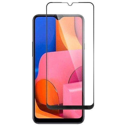Полноэкранное защитное стекло для телефона Samsung Galaxy A12 и Galaxy A02S / Стекло для смартфона Самсунг Галакси А12 и Галакси А02С / Full Glue черный от 3D до 21D (черный)