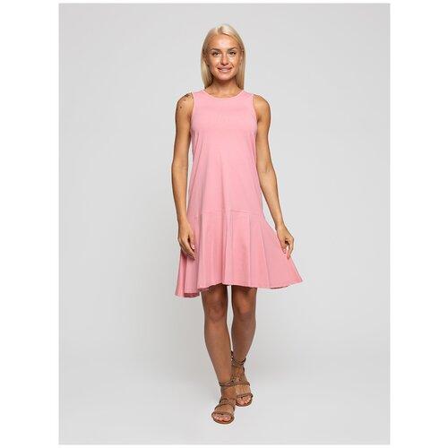 Женское легкое платье сарафан, Lunarable розово-коричневое, размер 50