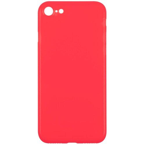 Чехол-накладка для Apple iPhone SE (2020)/iPhone 7/8/Айфон СЕ/Айфон 7/8.Ультратонкий, полупрозрачный, матовый красный