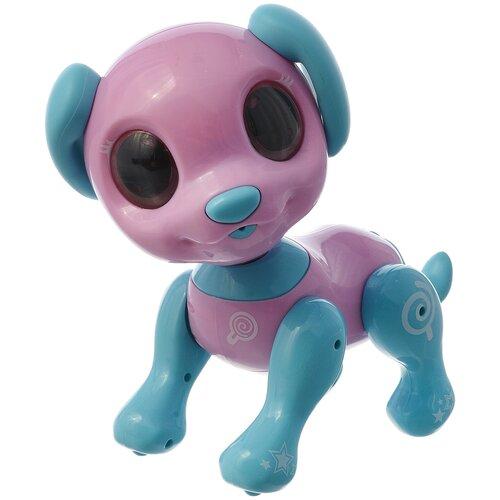 Фото - Робот 1 TOY Robo Pets Робо-пёс Т14336 розовый/голубой робот 1 toy robo pets котёнок белый голубой
