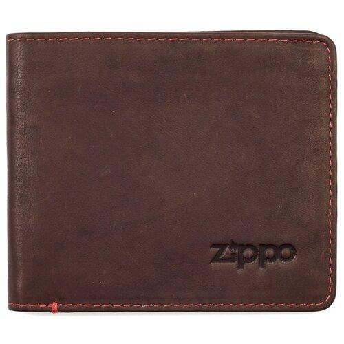 Фото - Портмоне Zippo 2005117, натуральная кожа коричневый портмоне zippo серо чёрный камуфляж натуральная кожа 11 2x2x8 2 см