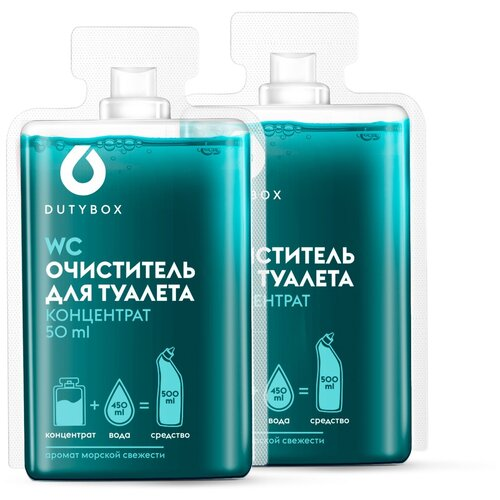 DUTYBOX Очиститель для туалета, 2 шт., 0.05 л