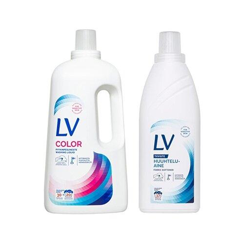 Набор LV Жидкое средство для стирки 1,5л + LV Кондиционер концентрированный для белья, 750 мл