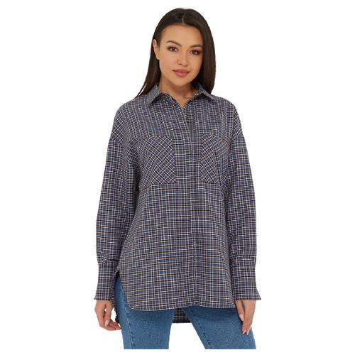 Рубашка Katharina Kross, размер 52-54, голубой/коричневый