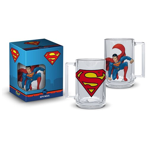Кружка Superman: Классика Фитнес (320мл) (подарочная упаковка)