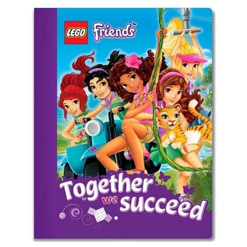 LEGO Тетрадь LEGO Friends, 51604, линейка, 100 л., разноцветный