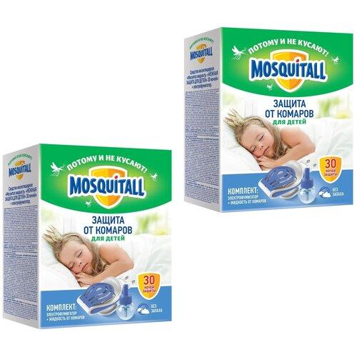 Комплект Фумигатор и жидкость от комаров Mosquitall Защита от комаров для детей 2 упаковки