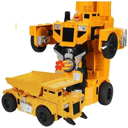 Фото - Радиоуправляемый робот-трансформер Самосвал 1:14, стреляет присосками - 2379PF радиоуправляемый робот трансформер mz model радиоуправляемый робот трансформер mz porshe 911 meizhi 2337p