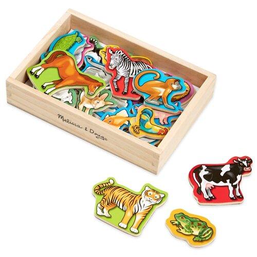 Купить Магнитные игры Деревянные магнитные животные Melissa Doug 475, Melissa & Doug, Игровые наборы и фигурки