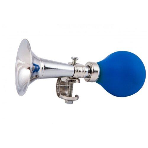 Клаксон металлический прямой с синей грушей (HR 277)
