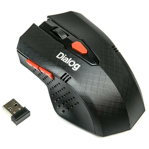 Беспроводная мышь Dialog MROP-09U USB, черный