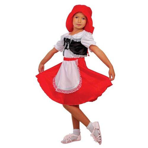 Купить Карнавальный костюм Страна Карнавалия Красная шапочка шапка, блузка, юбка, размер 32, рост 122-128 см, Карнавальные костюмы