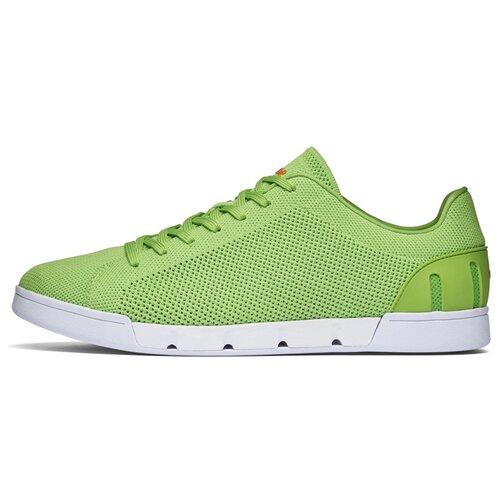 Мужские кроссовки SWIMS Breeze Tennis Knit цвет Acid Green/White размер 42