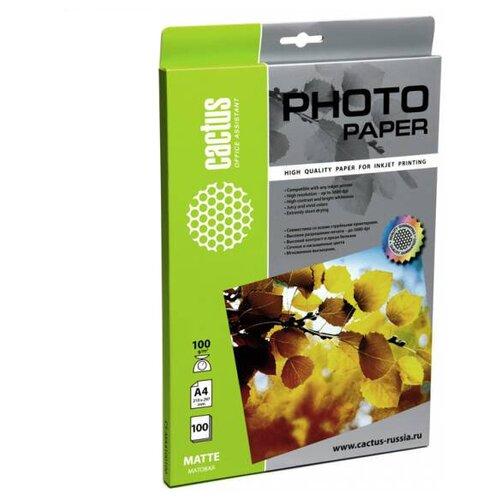 Фото - Бумага cactus A4 CS-MA4100100 100 г/м² 100 лист., белый бумага cactus a4 cs opb a480250 80 г м² 250 лист