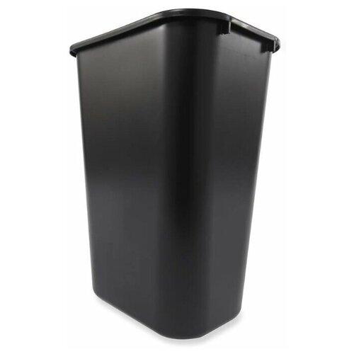 Корзина для мусора прямоугольная офисная Soft Wastebaskets 39 л, Черный, Rubbermaid
