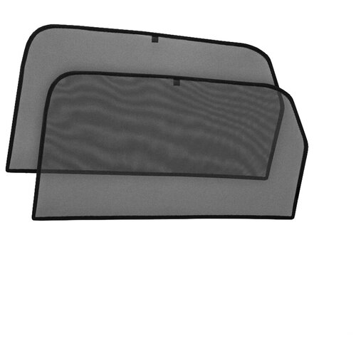 Шторки на стёкла Cobra-tuning для AUDI Q7 2015-, каркасные, На магнитах, Задние, боковые