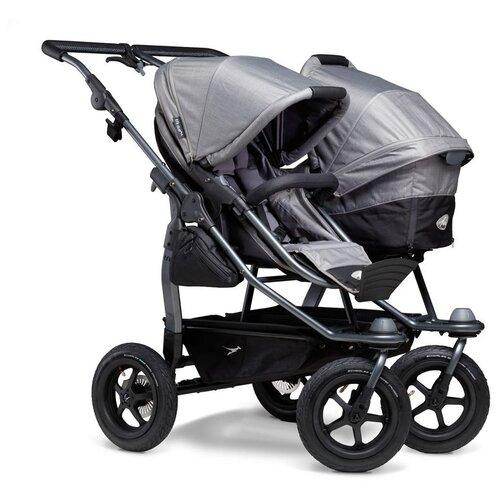 Фото - Универсальная коляска для двойни TFK Duo Combi (2 в 1), grey, цвет шасси: серый универсальная коляска indigo charlotte duo 2 в 1 ch31 цвет шасси черный