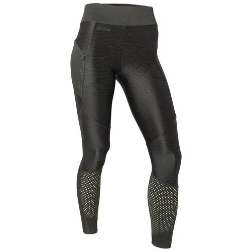 Тайтсы для бега женские RUN DRY+ FEEL хаки, размер: 2XL / W38 L31, цвет: Тёмный Хаки/Чёрно-Зелёный Цвет KALENJI Х Декатлон