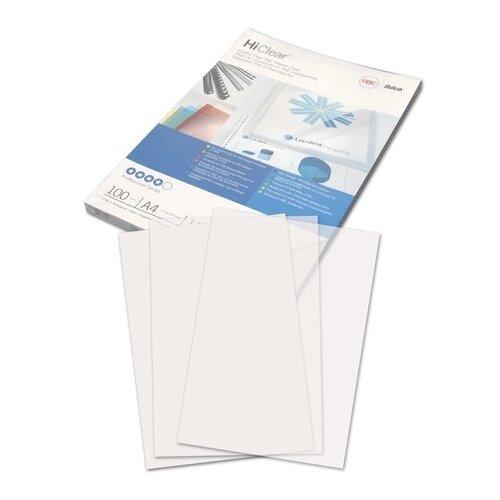 Фото - Обложки пластиковые для переплета А4, КОМПЛЕКТ 100 шт., 150 мкм, прозрачные, GBC (Англия), CE011580E обложка officespace pvc пластиковые а4 150 мкм желтый прозрачный 100 шт