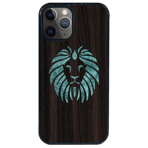 Чехол Timber&Cases для Apple iPhone 12/12 Pro TPU WILD collection - Царь зверей/Лев (Эвкалипт - Клен птичий глаз)