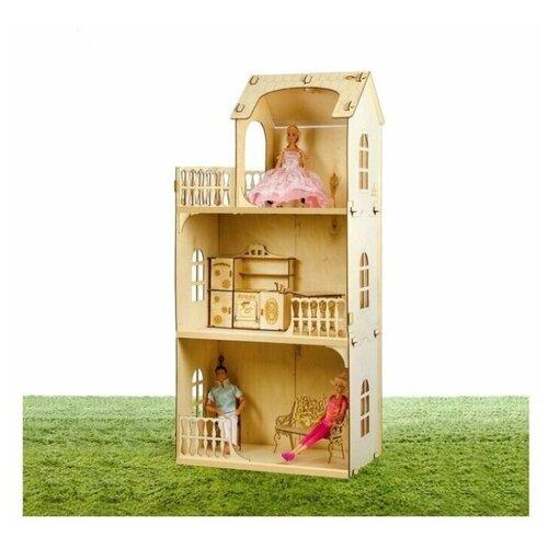 Деревянный кукольный домик для Барби Любава (КД-8) Теремок