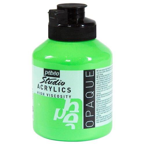 Краска акриловая Pebeo Studio Acrylics (Кадмий зеленый), 500 мл краска акриловая pebeo studio acrylics сиена натуральная 500 мл