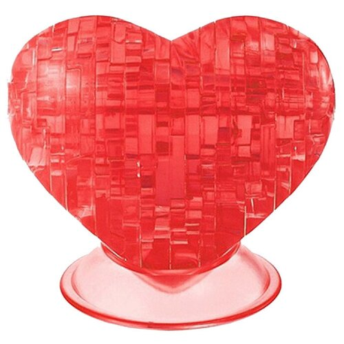 Фото - 3D-пазл Crystal Puzzle Красное сердце (90012), 46 дет. 3d пазл crystal puzzle дельфин 91004 95 дет