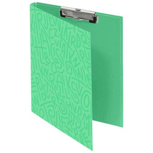 Купить LAMARK450 Папка-планшет с крышкой Delight Time А4, с верх. заж., ламин. картон, корешок 10 мм, мята, Файлы и папки