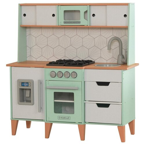 Кухня KidKraft 53432/53427 серый/зеленый