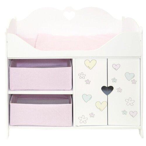 Купить PAREMO Кроватка-шкаф для кукол Мимими, Крошка Мили (PRT120-01) белый/розовый, Мебель для кукол