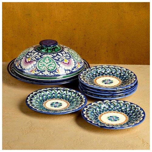 Набор для блинов Риштан, 7 предметов: блинница 30см, 6 тарелок 17см 4780455