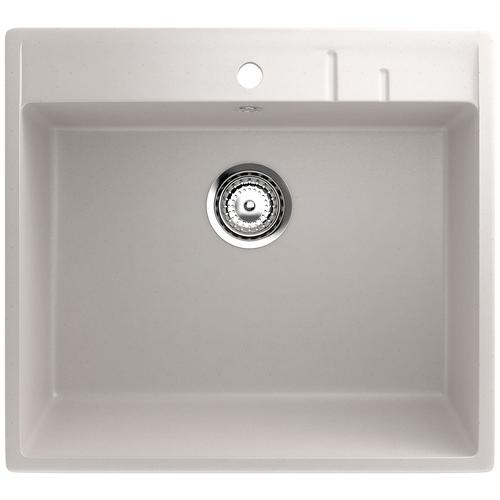 Фото - Врезная кухонная мойка 55 см EcoStone ES-15 331 белый врезная кухонная мойка 103 см ecostone es 29 308 черный