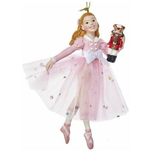 Фото - Ёлочная игрушка клара в розовом платье, полистоун, 12.7 см, Kurts Adler ёлочная игрушка кошечка делфтский фарфор 10 см разные модели kurts adler j0936