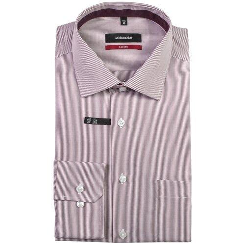 Рубашка Seidensticker размер 40 белый/бордовый