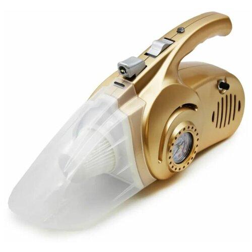 Автомобильный пылесос 4 в 1 (пылесос, насос, тестер давления, светильник), бронзовый
