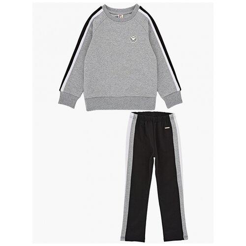 Спортивный костюм Mini Maxi размер 116, серый/черный