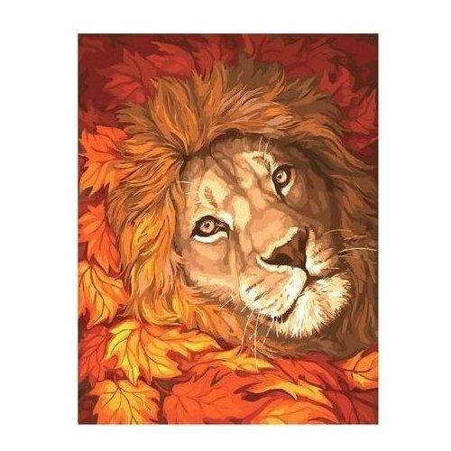 Купить Картина по номерам на холсте Paintboy Золотой лев , 40х50 см, GX-39023, Картины по номерам и контурам