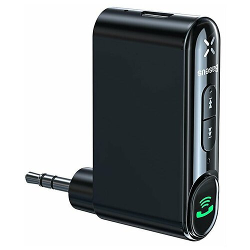 Автомобильный Bluetooth-приемник BASEUS Qiyin AUX, черный (WXQY-01)
